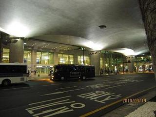 インチョン空港の外